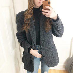 Vintage Scottish Harris Tweed Wool Blazer Sears